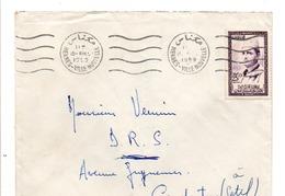 MAROC LETTRE DE MEKNES POUR L'ALGERIE 1959 - Marokko (1956-...)