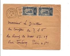 DAGUIN DE TANGER CHERIFIEN ET AFFRANCHISSEMENT COMPOSE SUR LETTRE POUR LA FRANCE 1926 - Briefe U. Dokumente