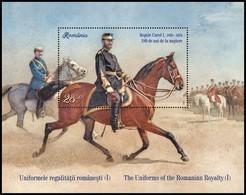 ROMANIA, 2019, THE UNIFORMS OF THE ROMANIAN ROYALTY, Souvenir Sheet, MNH (**); LPMP 2264a - 1948-.... Repúblicas