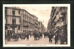 Cartolina Napoli, Via Roma E Largo Carita - Napoli