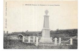 MEAULTE: LE MONUMENT ET LE NOUVEAU CIMETIERE - Meaulte