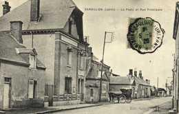 SANDILLON ( Loiret) La Poste Et Rue Principale  RV - Other Municipalities