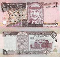 Jordan  1997 - 1/2 Dinar - Pick 28b UNC - Jordan