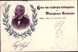 Cp Köln Am Rhein, 86 Jähriges Stiftungsfest Der Musikalischen Gesellschaft 1898 - Germany