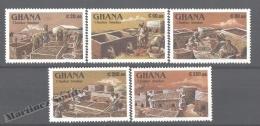 Ghana 1991 Yvert 1201-05, Traditional Works, Fish Workers - MNH - Ghana (1957-...)