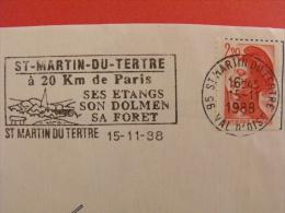 OBLITERATION FRANCAISE FLAMME NO 9714 ST MARTIN DU TERTRE EMISE EN 1988 - Préhistoire