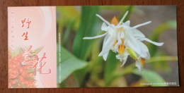 Coelogyne Sanderae O'Brien,China 2013 Magical Xishuangbanna Wild Orchid Advertising Pre-stamped Card,specimen Overprint - Orchideeën