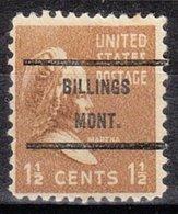 USA Precancel Vorausentwertung Preo, Bureau Montana, Billings 805-71 - Vereinigte Staaten