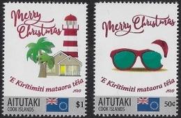 Aitutaki 2019, Merry Chrismas, Lighthouse, 2val - Leuchttürme