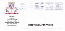 Enveloppe Illustrée, Ville De Laboissière En Thelle 60, Oise, Mairie - Poststempel (Briefe)