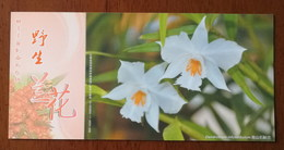 Dendrobium Infundibulum Lindl.,China 2013 Magical Xishuangbanna Wild Orchid Advert Pre-stamped Card,specimen Overprint - Orchideeën