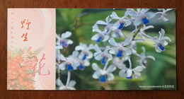 Vanda Coerulescens,China 2013 Magical Xishuangbanna Wild Orchid Advertising Pre-stamped Card,specimen Overprint - Orchideeën