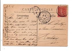 SEMEUSE SUR CARTE DE AIX LES BAINS (CERCLE) 1906 - Marcophilie (Lettres)