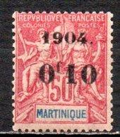 Martinique  56  * - Unused Stamps