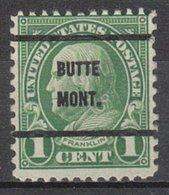 USA Precancel Vorausentwertung Preo, Bureau Montana, Butte 632-61 - Vereinigte Staaten