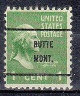 USA Precancel Vorausentwertung Preo, Bureau Montana, Butte 804-61 - Vereinigte Staaten