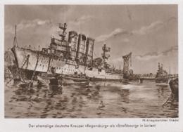 AK - WK II - Deutsche Kreuzer REGENSBURG Als Strassbourg In Lorient - Krieg