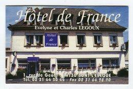 CdV °_ Hotel-14-Pont L'Evêque-De France-Legoux - Cartoncini Da Visita