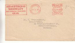 Grande Bretagne - Lettre De 1929 - Oblit Coventry - Exp Vers Berlin - EMA - Empreintes Machines - - 1902-1951 (Kings)