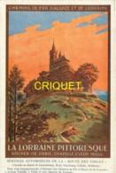 57 Rocher De Dabo, Chapelle St Léon, Belle Carte-affiche Des Chemins De Fer D'Alsace - Dabo