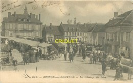 58 Brinon Sur Beuvron, Le Champ De Foire, Superbe Animation De Marché Aux Bestiaux, Affranchie 1904 - Brinon Sur Beuvron