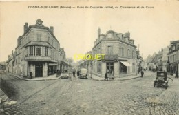 58 Cosne Sur Loire, Rues Du 14 Juillet, Du Commerce Et De Cours, Beaux Tacots, Commerces, Visuel Pas Courant - Cosne Cours Sur Loire
