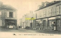58 St Benin D'Azy, Place De La Mairie, Animée Avec Les Commerçants Devant Leurs Magasins, Belle Carte - France