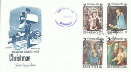 DOMINICA , SOBRE PRIMER  DIA  NAVIDADES  AÑO   1975 - Dominique (...-1978)