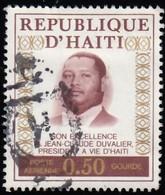 HAÏTI - Scott #C421 Pres. Jean-Claude Duvalier / Used Stamp - Haiti
