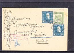 Autriche Hongrie - Serbie - Carte Postale De 1917 - Entier Postal - Exp Vers Genève - Avec Censure - Serbie
