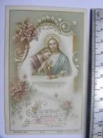 Image Religieuse  - Communion 1899 Fanny Blondel - Chapelle Des Dames Ursulines De Thoissey  (Ain) - Devotion Images