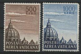 VATICAN POSTE AERIENNE Cote 125 € N° 22 + 23 (défaut D'angle). Neufs ** (MNH). - Unused Stamps