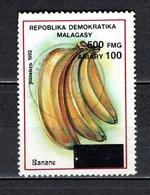 MADAGASCAR N° 1681Z  SURCHARGE LOCALE OBLITERE   COTE  ? €   FRUIT BANANE   VOIR DESCRIPTION - Madagascar (1960-...)