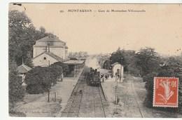 Tarn Et Garonne / Montauban , Gare De Montauban Villenouvelle  Avec Train / Locomotive - Montauban
