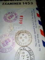 CAMP DE GURS 18/2/41 DEPART NEW-YORK AVEC ARRIVEE CACHETS CENSURE EN RECOMMANDEE VOIR SCAN - Postal History