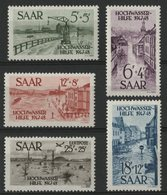 SARRE Cote 87 € N° 244 à 247 + POSTE AERINNE N° 12. Neufs ** (MNH) (sauf N° 246 Avec Charnière). TB - 1947-56 Allierte Besetzung