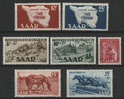 SARRE Cote 74 € N° 248 à 254. Neufs ** (MNH). TB - 1947-56 Allierte Besetzung