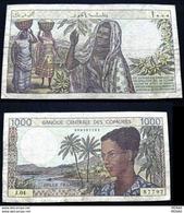COMOROS - 1000 FRANCS - 1984 - Comoros
