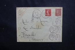 FRANCE - Entier Postal Type Semeuse + Compléments ( Semeuse + Bloc De 4 + 1 Blancs) De Vernon En 1906  - L 50549 - Postal Stamped Stationery