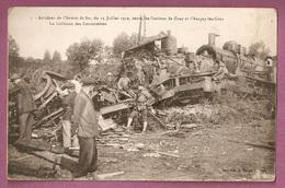 Cpa Accident De Chemin De Fer 11 Juillet 1919 Entre Les Stations De Gray Et Chargey Les Gray - éditeur Bergeret N°1 - Gray