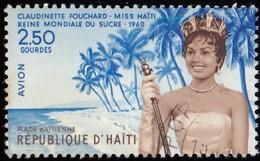 HAÏTI - Scott #C162 Claudinette Fouchard, Miss Haiti / Used Stamp - Haiti