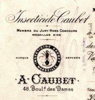 CAUBET  Insecticide  MARSEILLE   1900 - Cambiali