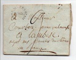 Marque Linéaire Circulaire BUREAU FRANCAIS ROME Pour LAMBESC (Bouches-du-Rhône) 4 JUIN 1804 - Taxe Manuscrite 9 Décimes - Marcofilie (Brieven)
