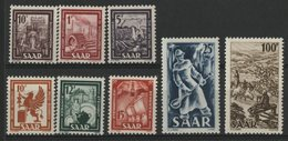 SARRE Cote 95 € N° 255 à 262. Série Complète De 8 Valeures Neuves ** (MNH). TB - 1947-56 Ocupación Aliada