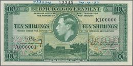 "Bermuda: Bermuda Government 10 Shillings 1937 SPECIMEN, P.9s With Perforation ""Cancelled"", Serial Nu - Bermudas"