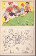 Fiche Cartonnée à Colorier- Publicité Nestlé : La Raison Du Plus Fort - Vieux Papiers