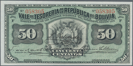 Bolivia / Bolivien: Very Nice Group With 8 Banknotes Comprising 50 Centavos 1902 P.91 (UNC), 1 Boliv - Bolivien