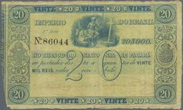 Brazil / Brasilien: Imperio Do Brasil 20 Mil Reis ND(1850), P.A223, Very Rare And Seldom Offered Ban - Brazil