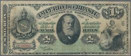 Brazil / Brasilien: Imperio Do Brasil 1 Mil Reis 1879, P.A250a, Still Nice With Several Folds And To - Brazil