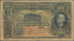Brazil / Brasilien: Caixa De Conversão 200 Mil Reis 1906, P.98, Beautiful And Highly Rare Note, Stil - Brazil